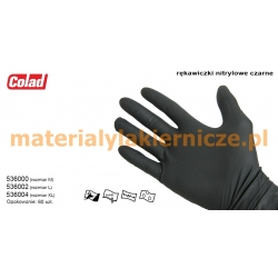 COLAD 536004 NITRILE GLOVES BLACK materialylakiernicze.pl