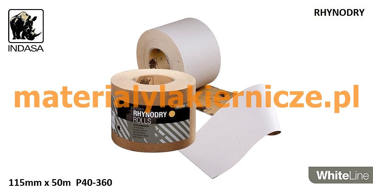 INDASA Whiteline rhynalox//rhynodry Papier abrasif rôle 115mm//50m